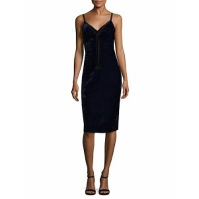 エラモス レディース ワンピース Solid V-Neck Dress