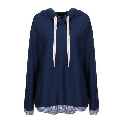 セミクチュール SEMICOUTURE スウェットシャツ ダークブルー M コットン 100% / ナイロン / ポリウレタン スウェットシャツ