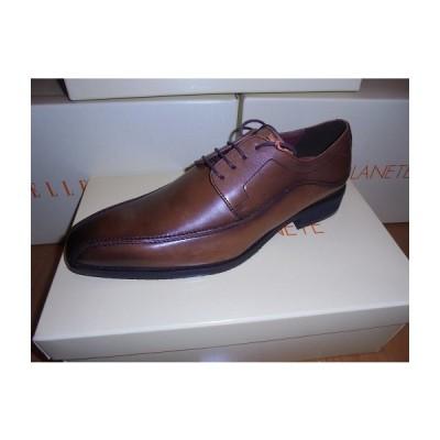 【現品限り】送料無料 在庫処分 マドラス ELLE PLANETE エルプラネット 本革 新品 メンズ ビジネスシューズ 紳士靴 PT ブラウン 25.0cm