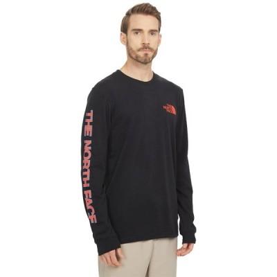 ノースフェイス シャツ トップス メンズ Long Sleeve TNF Sleeve Hit T-Shirt TNF Black 1