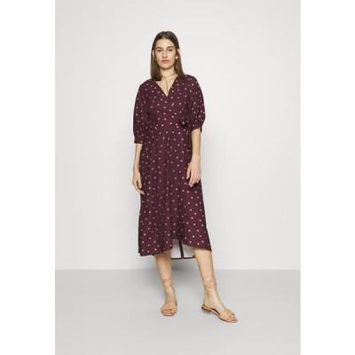 クローゼット レディース ドレス CLOSET GATHERED - Day dress - brown