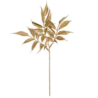 《 造花 グリーン 》◆とりよせ品◆Parer バンブーリーフバンドル ゴールド