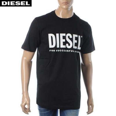 ディーゼル DIESEL クルーネックTシャツ 半袖 メンズ T-JUST-LOGO 00SXEK-0AAXJ ブラック