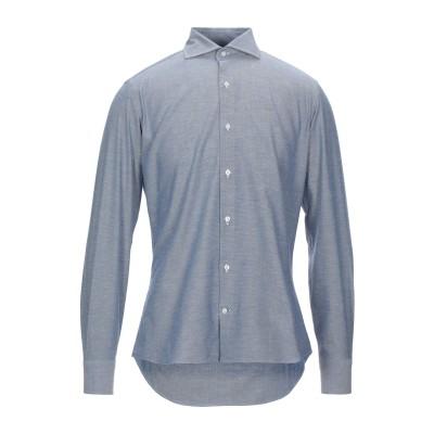 レ コパン LES COPAINS シャツ ブルー 44 コットン 100% シャツ