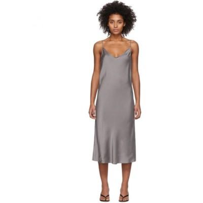 スキン Skin レディース ワンピース ワンピース・ドレス Grey Silk Terra Dress Palladium