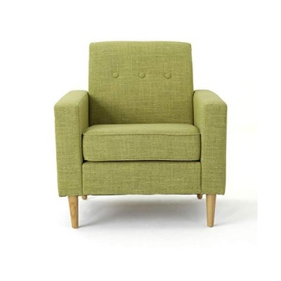 Christopher Knight Home Sawyer Mid-Century Modern Fabric Club Chair, Muted Green / Natural