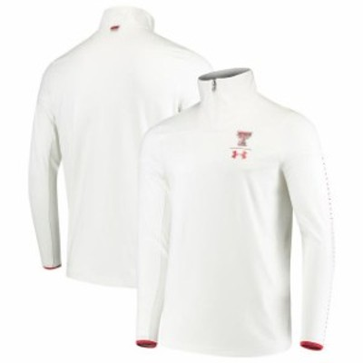 Under Armour アンダー アーマー スポーツ用品  Under Armour Texas Tech Red Raiders White 2018 Sideline 1/4 Zip Perfo
