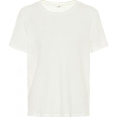 ザ ロウ The Row レディース Tシャツ トップス Ankara Cotton And Cashmere T-Shirt Ivory