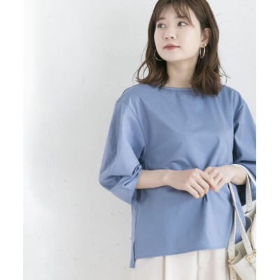 URBAN RESEARCH ROSSO/アーバンリサーチ ロッソ 【WEB限定】トリコットデザインタックブラウス BLUE FREE