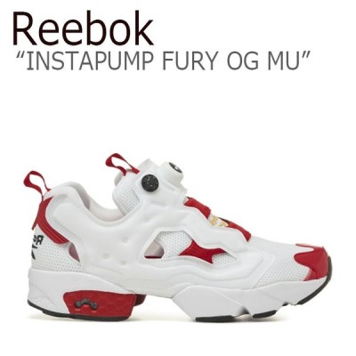 リーボック ポンプフューリー スニーカー REEBOK INSTAPUMP FURY OG MU インスタポンプ フューリー OG MU WHITE ホワイト RED レッド FV0418 シューズ