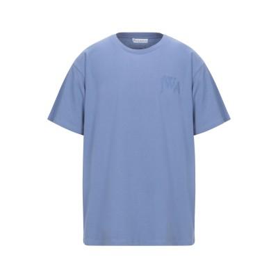 J.W.アンダーソン JW ANDERSON T シャツ パステルブルー S コットン 100% T シャツ