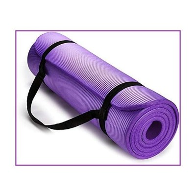 Thick Yoga Mats for Women,1/2 inch Thick All-Purpose Extra Thick High Density Anti-Tear Non Slip Exercise Yoga Mat ,Mat with Easy-Cinch Yoga