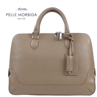 PELLE MORBIDA ペッレ モルビダ シュリンクレザー ブリーフケース PMO-MB045 (トープ)