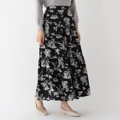 エージー バイ アクアガール AG by aquagirl カンパーニュティアードスカート (ブラック)