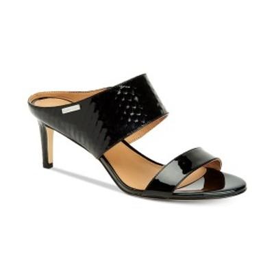 カルバンクライン レディース パンプス シューズ Women's Cecily Dress Sandal Black Python