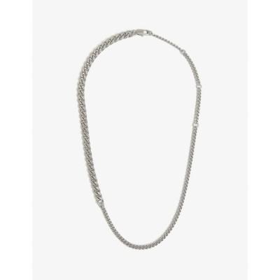 オロトン OROTON レディース ネックレス ジュエリー・アクセサリー Felix Silver-Toned Brass Necklace Worn Silver