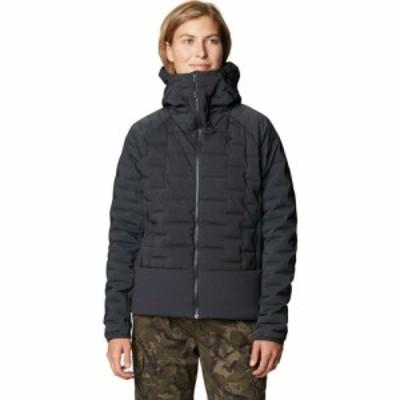 マウンテンハードウェア Mountain Hardwear レディース ダウン・中綿ジャケット フード アウター Stretchdown Hybrid Hooded Jacket Dark