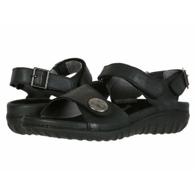 ドリュー サンダル シューズ レディース Walkabout Black Leather