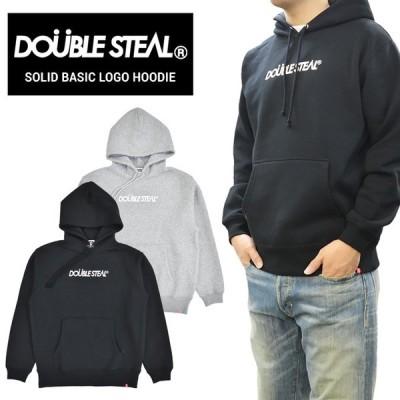 DOUBLE STEAL ダブルスティール パーカー SOLID BASIC LOGO HOODIE スウェット フリース 長袖 メンズ 996-65049
