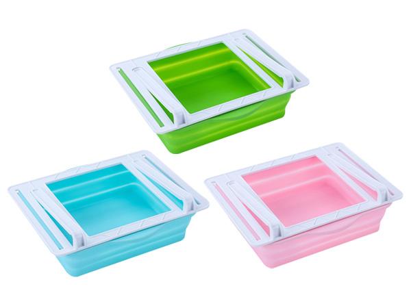 可摺疊式冰箱抽屜式收納盒(1入) 顏色隨機出貨【D021978】