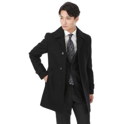 ステンカラースタイリッシュコート【ウール100%】