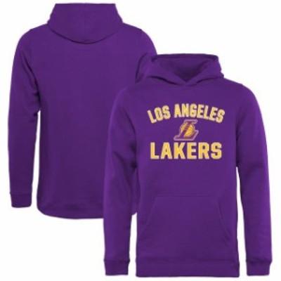 Fanatics Branded ファナティクス ブランド スポーツ用品  Los Angeles Lakers Youth Purple Victory Arch Pullover Ho