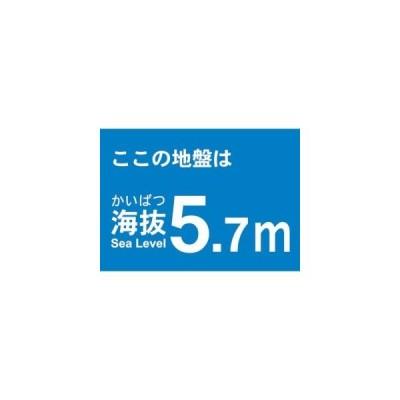 【メール便選択可】海抜ステッカー 5.7m (2枚入) TKBS-57