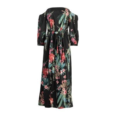MARIAGRAZIA PANIZZI 7分丈ワンピース・ドレス ブラック 40 コットン 100% / レーヨン 7分丈ワンピース・ドレス