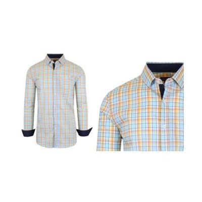 ギャラクシーバイハルビック シャツ トップス メンズ Men's Quick Dry Performance Stretch Dress Shirts Yellow, Orange
