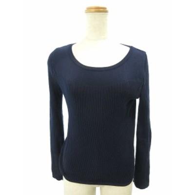【中古】リランドチュール Rirandture セーター ニット 長袖 2 紺 ネイビー /SI43 レディース