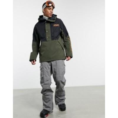 オークリー メンズ ジャケット・ブルゾン アウター Oakley TNP lined shell ski anorak jacket in black/green Black/green