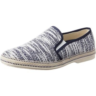 [グラベラ] かかとを踏める靴 メンズ スリッポン コットン 軽量 おしゃれ サイドエラスティック GLBT-085 ネイビー 26.5~27.0 c