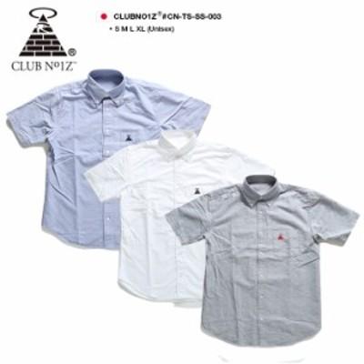 CLUBNO1Z半袖シャツメンズレディース春夏用全3色クラブノイズシャツ半袖シンプルおしゃれかっこいいオックスフォードオックスフォードシ