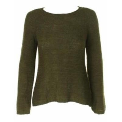 ファッション トップス Style & Ivy Green Long-Sleeve Textured Boat-Neck Sweater S