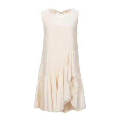 KAOS JEANS ミニワンピース&ドレス ベージュ 44 コットン 100% ミニワンピース&ドレス