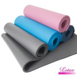 LOTUS 福利品 加寬加厚NBR合成橡膠15mm瑜珈墊-顏色隨機