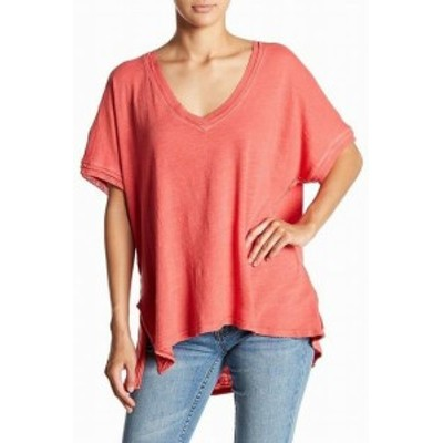 Free People フリーピープル ファッション トップス Free People NEW Pink Womens Size Small S V-Neck Grommet Knit Top