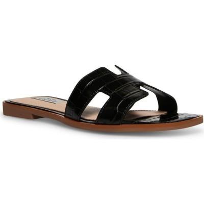 スティーブン ニューヨーク STEVEN NEW YORK レディース サンダル・ミュール シューズ・靴 Enida Slide Sandals Black Croco