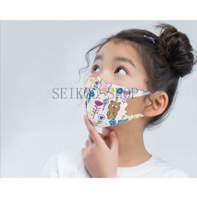 冷感マスク キッズマスク ひんやり 接触冷感 洗える 5枚セット 可愛い キャラクター 立体 小さめ 赤ちゃん ベビー 幼児 子供用マスク 花粉症