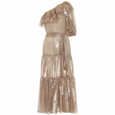 リサ マリー フェルナンデス Lisa Marie Fernandez レディース ワンピース マキシ丈 ワンピース・ドレス Arden metallic maxi dress gold