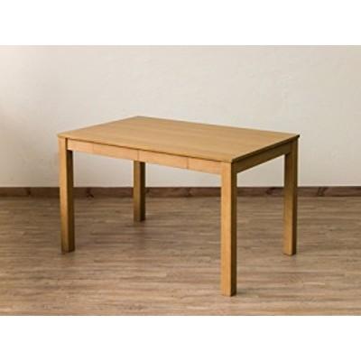 引出し付き フリーテーブル VGL-25ナチュラル(NA)木製 110×70 アジャスター付き カフェテーブル  ダイニングテーブル