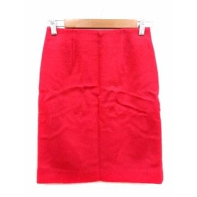 【中古】未使用品 ノーリーズ Nolley's スカート タイト ミニ ウール アルパカ混 34 ピンク /YI レディース