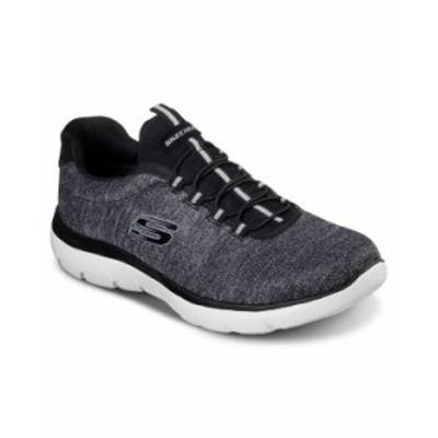 スケッチャーズ メンズ スニーカー シューズ Men's Summits Forton Slip-On Casual Sneakers from Finish Line BKW-BLACK/