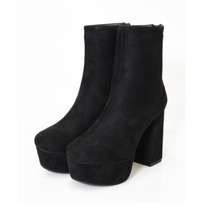 NOFALL sango / 厚底スクエアトゥチャンキーヒールショートブーツ WOMEN シューズ > ブーツ