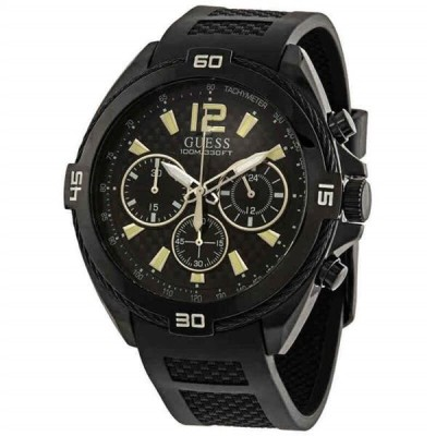 腕時計 ゲス メンズ Guess Surge Chronograph Quartz Black Dial Men's Watch W1168G2