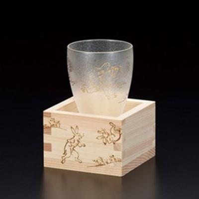 アデリア 鳥獣戯画枡酒グラス | 日本酒グラス | プレミアムニッポンテイスト 6604