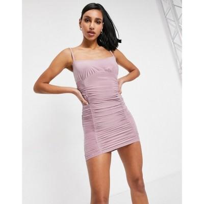 フェム リュクス Femme Luxe レディース ワンピース キャミワンピ ワンピース・ドレス Ruched Detail Cami Strap Midi Dress In Mauve モーヴ