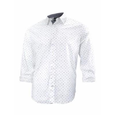 nautica ノーティカ ファッション アウター Nautica Mens Geographic Print Long Sleeve Button Down Shirt