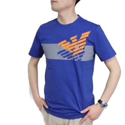 【送料無料!】イーエーセブン EA7 メンズ クルーネック半袖Tシャツ 3HPT49  ネイビー【NV】