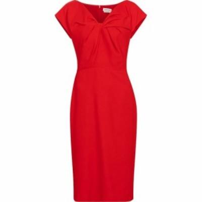 アレキサンダー マックイーン Alexander McQueen レディース パーティードレス ミドル丈 ワンピース・ドレス crepe midi dress Lust Red